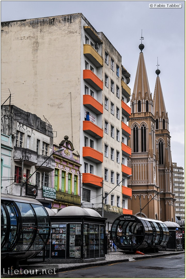 Curitiba - Historical center - Praça generoso marques and Catedral Metropolitana - 886