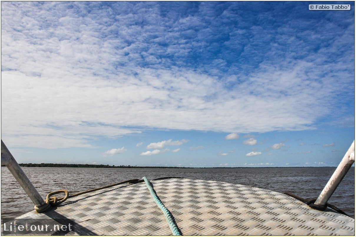 Fabio's LifeTour - Brazil (2015 April-June and October) - Manaus - Amazon Jungle - Driving a motorboat on the Amazon river - 9051
