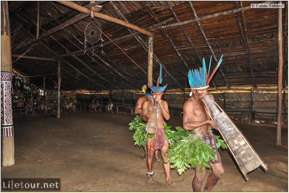 Fabio's LifeTour - Brazil (2015 April-June and October) - Manaus - Amazon Jungle - Indios village - 2- ceremonial dancing - 8079