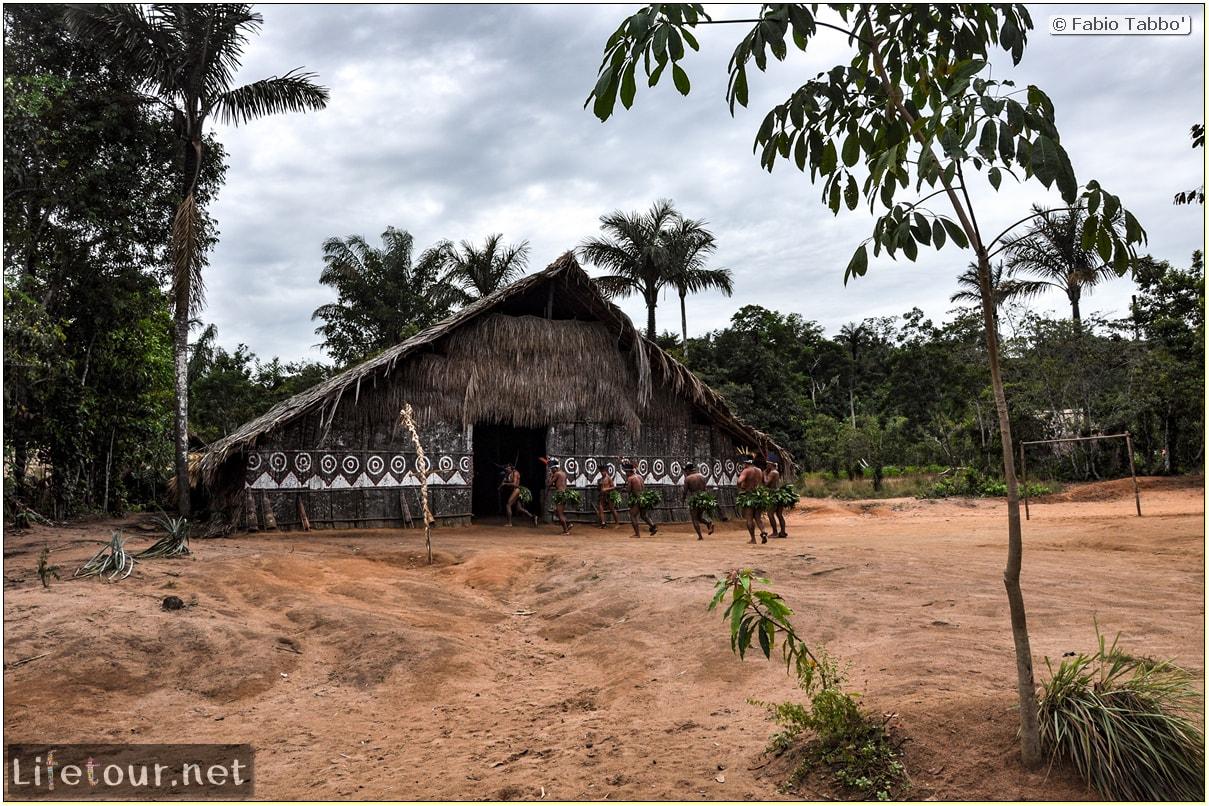 Fabio's LifeTour - Brazil (2015 April-June and October) - Manaus - Amazon Jungle - Indios village - 2- ceremonial dancing - 8113