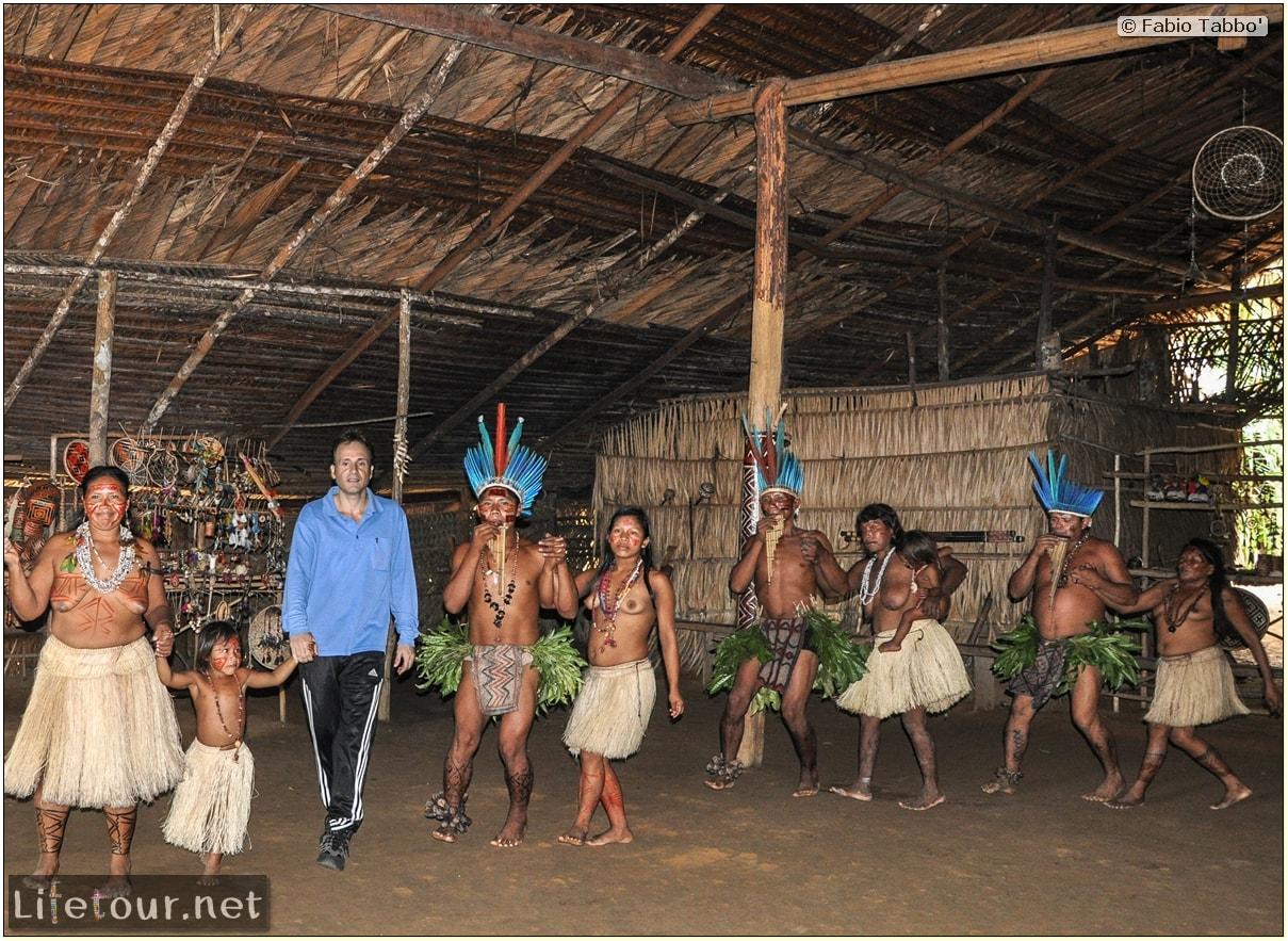 Fabio's LifeTour - Brazil (2015 April-June and October) - Manaus - Amazon Jungle - Indios village - 2- ceremonial dancing - 8477