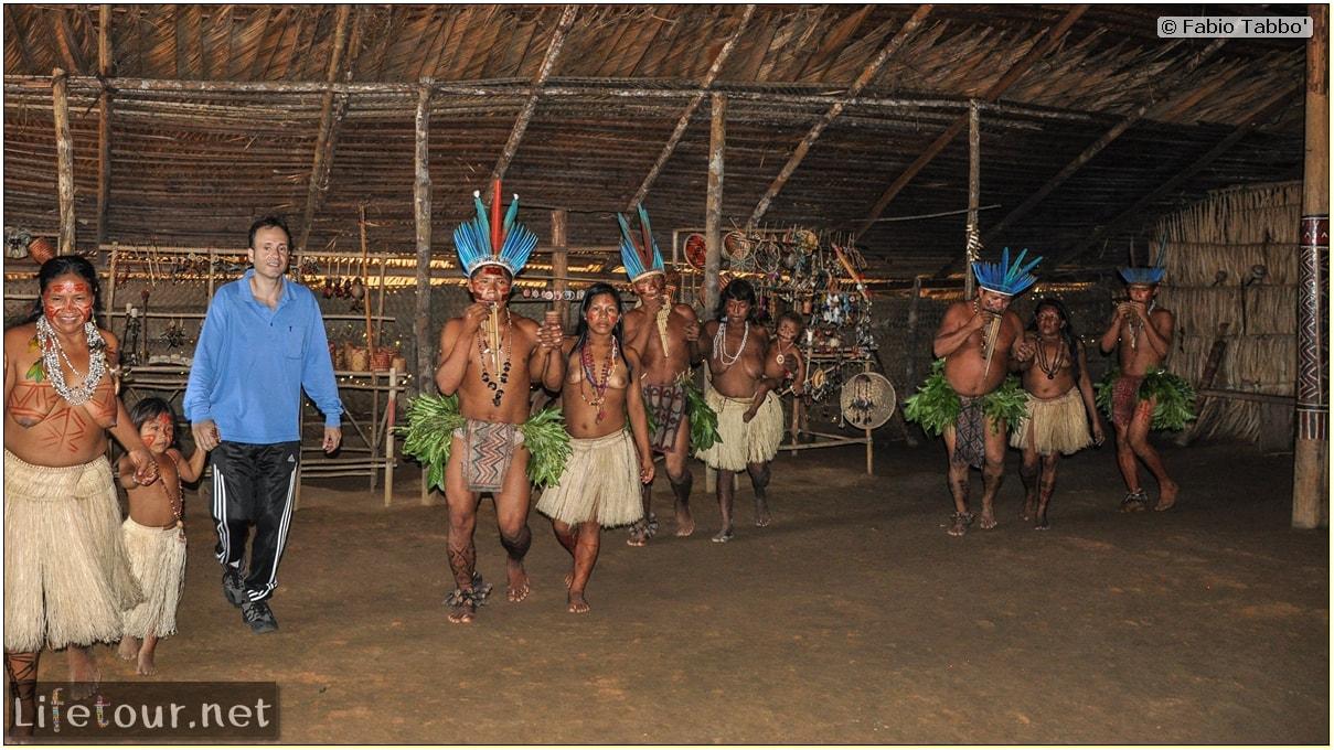 Fabio's LifeTour - Brazil (2015 April-June and October) - Manaus - Amazon Jungle - Indios village - 2- ceremonial dancing - 8500
