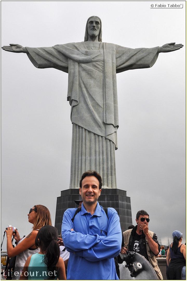 Fabio's LifeTour - Brazil (2015 April-June and October) - Rio De Janeiro - Corcovado - Level 2 - Christ statue - 6894