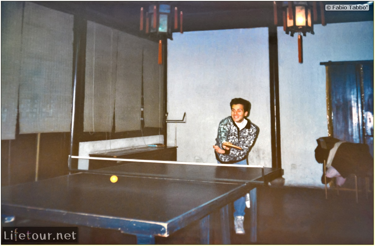Beijing (1993-1997 and 2014) - Tourism - Playing Ping Pong with Chinese girls (1994) - 223