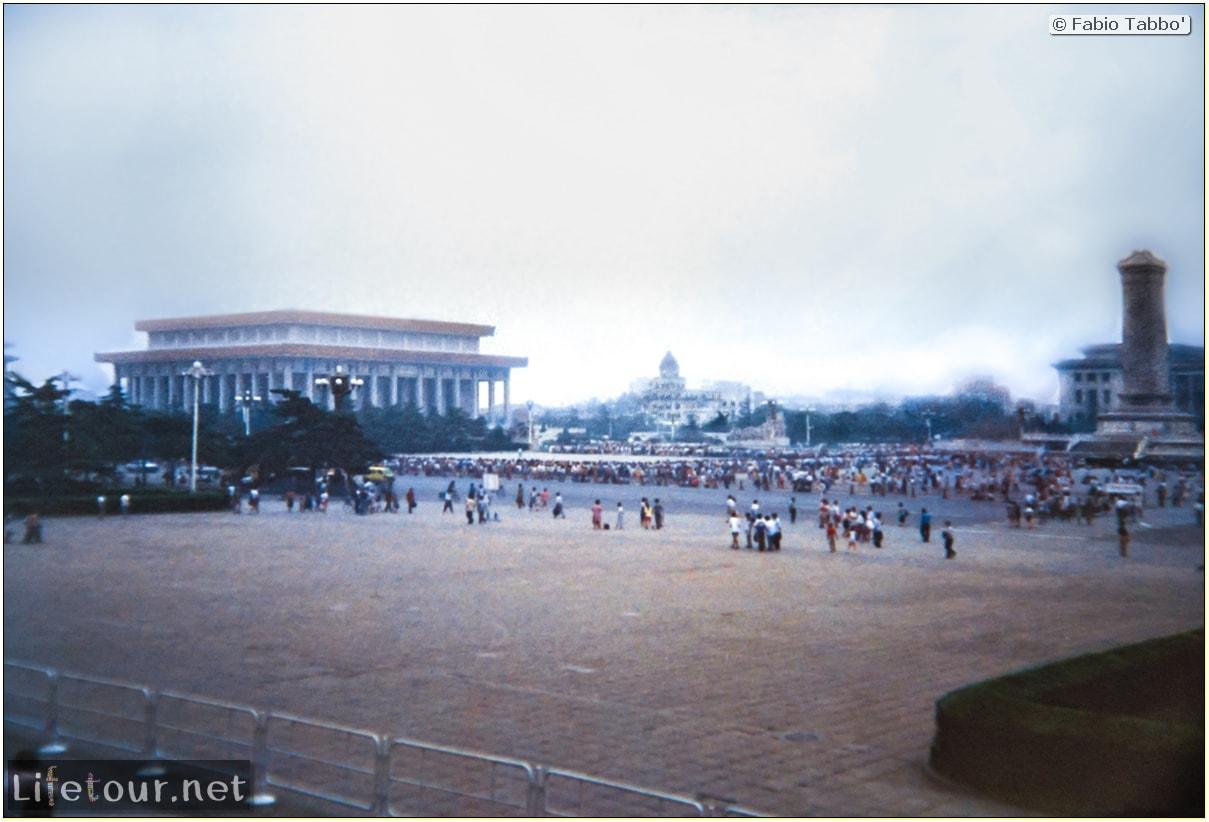 Fabio's LifeTour - China (1993-1997 and 2014) - Beijing (1993-1997 and 2014) - Tourism - Tienanmen Square (1993) - 12742