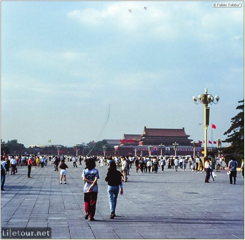 Fabio's LifeTour - China (1993-1997 and 2014) - Beijing (1993-1997 and 2014) - Tourism - Tienanmen Square (1993) - 16673