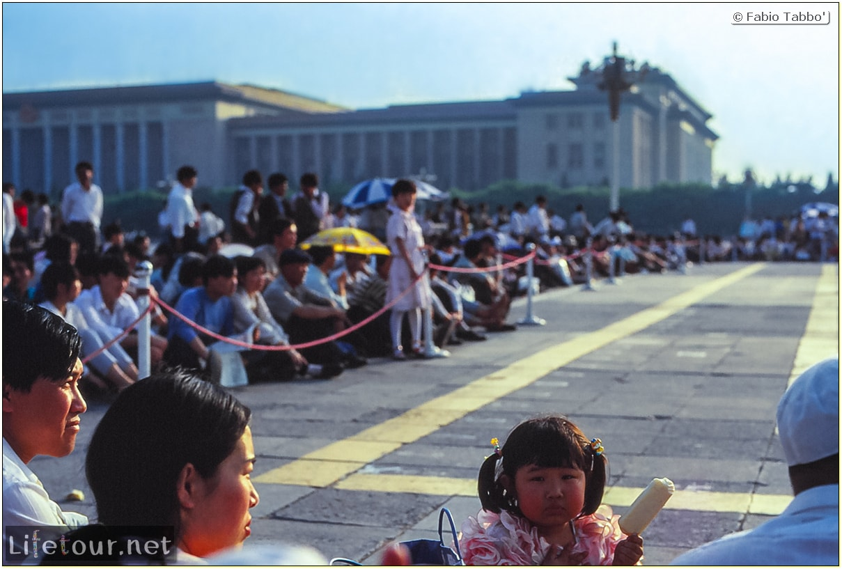Fabio's LifeTour - China (1993-1997 and 2014) - Beijing (1993-1997 and 2014) - Tourism - Tienanmen Square (1993) - 16674