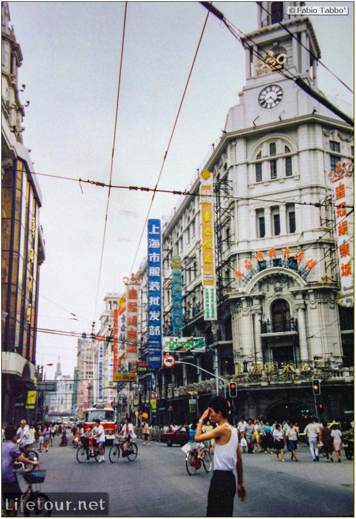 Fabio's LifeTour - China (1993-1997 and 2014) - Shanghai (1993 and 2014) - Tourism - Nanjing road - 1993 - 19882
