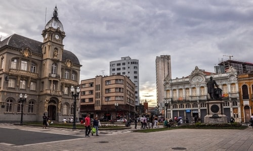 Curitiba - Historical center - Praça generoso marques and Catedral Metropolitana - 766 cover