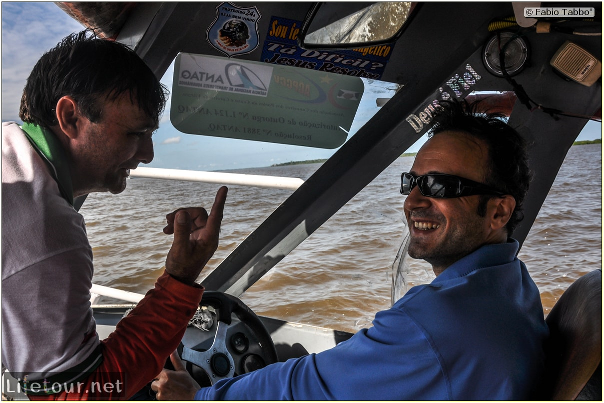 Fabio's LifeTour - Brazil (2015 April-June and October) - Manaus - Amazon Jungle - Driving a motorboat on the Amazon river - 8895 cover
