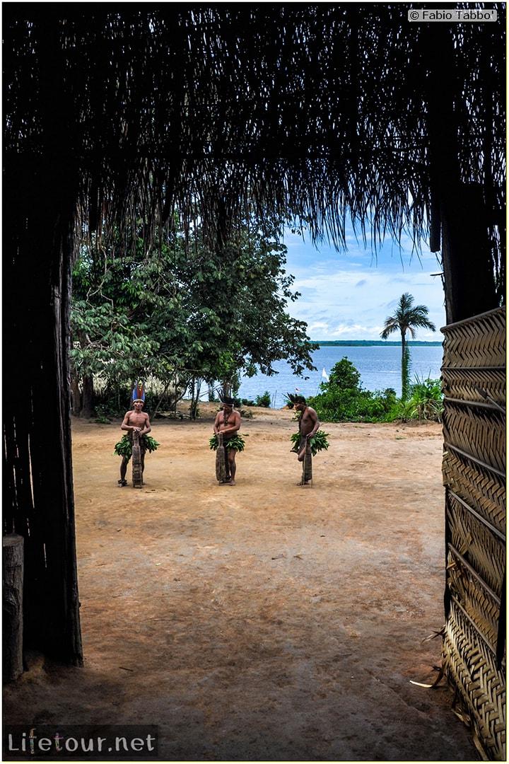 Fabio's LifeTour - Brazil (2015 April-June and October) - Manaus - Amazon Jungle - Indios village - 2- ceremonial dancing - 7615
