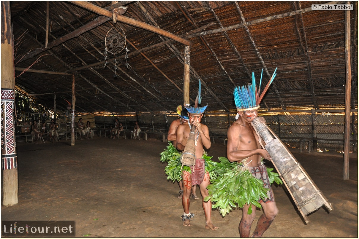 Fabio's LifeTour - Brazil (2015 April-June and October) - Manaus - Amazon Jungle - Indios village - 2- ceremonial dancing - 8079