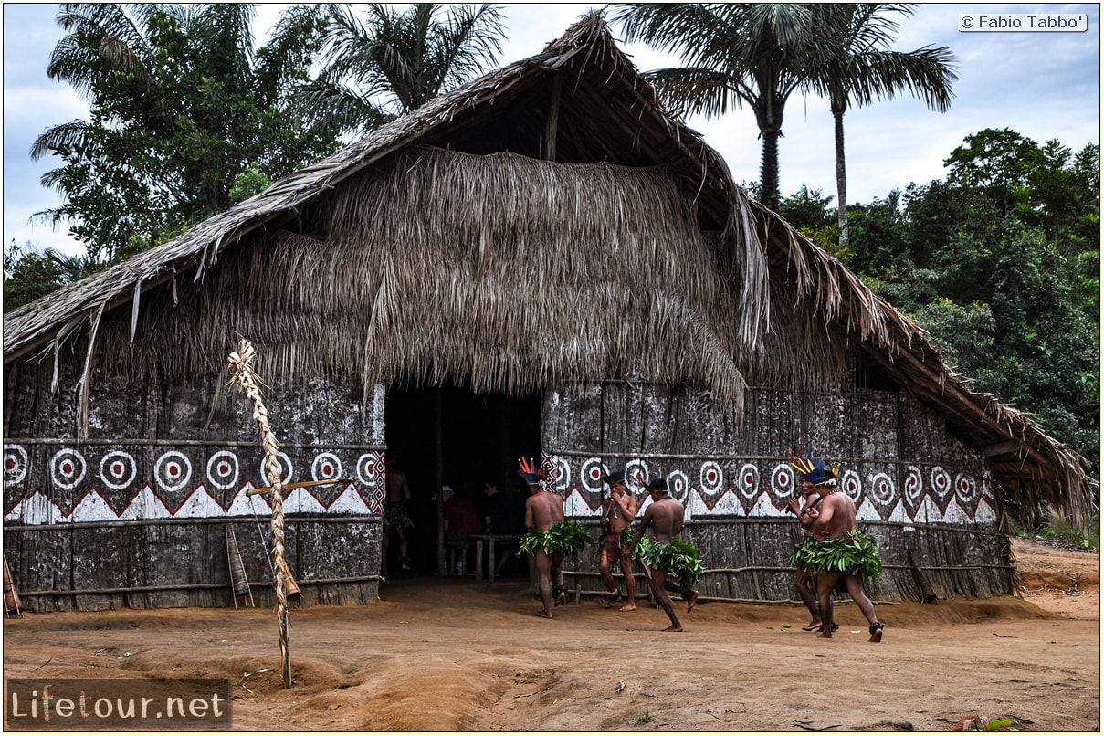 Fabio's LifeTour - Brazil (2015 April-June and October) - Manaus - Amazon Jungle - Indios village - 2- ceremonial dancing - 8172