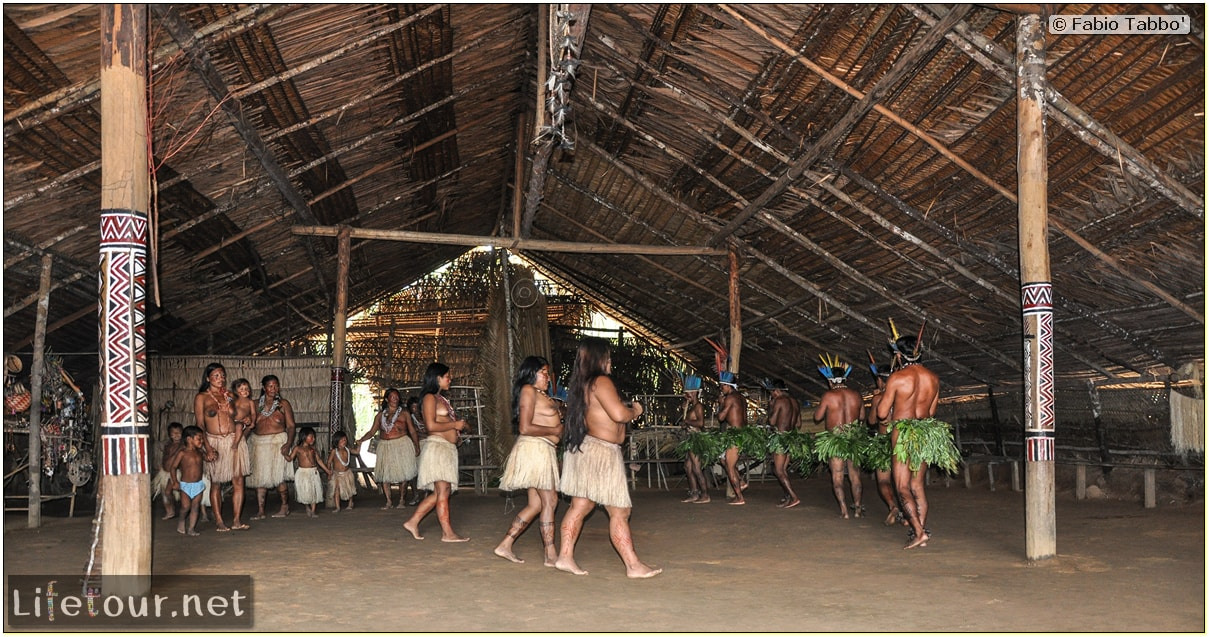 Fabio's LifeTour - Brazil (2015 April-June and October) - Manaus - Amazon Jungle - Indios village - 2- ceremonial dancing - 8340 cover