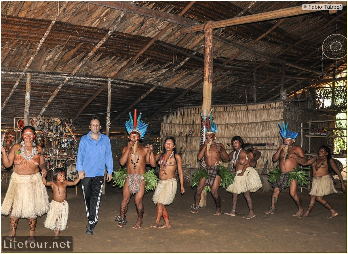 Fabio's LifeTour - Brazil (2015 April-June and October) - Manaus - Amazon Jungle - Indios village - 2- ceremonial dancing - 8477