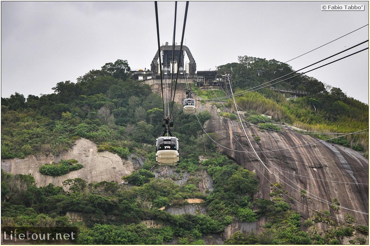Rio De Janeiro - Trilha Do P¦o De Açúcar - 2- panoramic views on first station - 1121