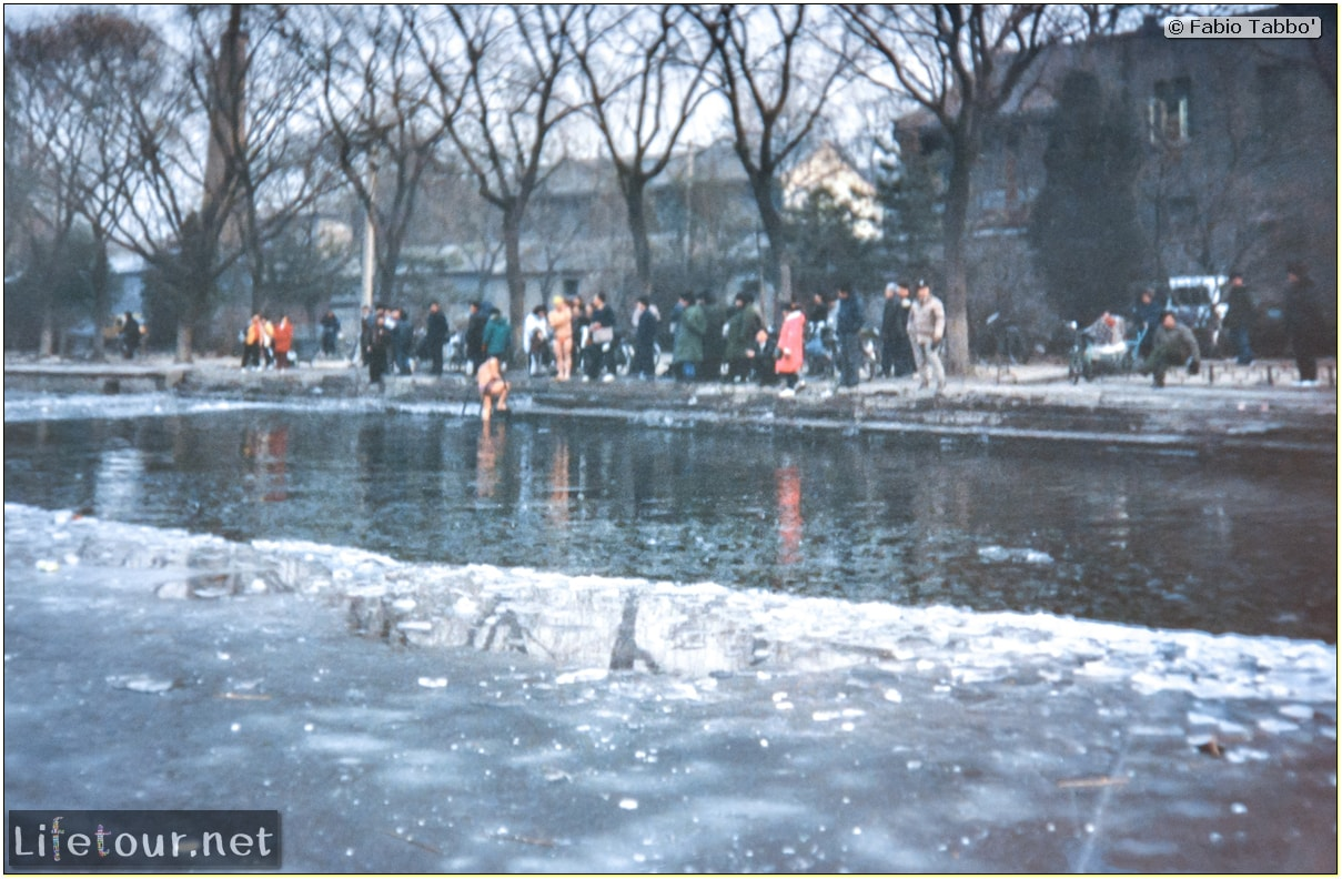 Beijing (1993-1997 and 2014) - Tourism - Behai Park - skating and swimming in frozen lake (1994) - 2 COVER