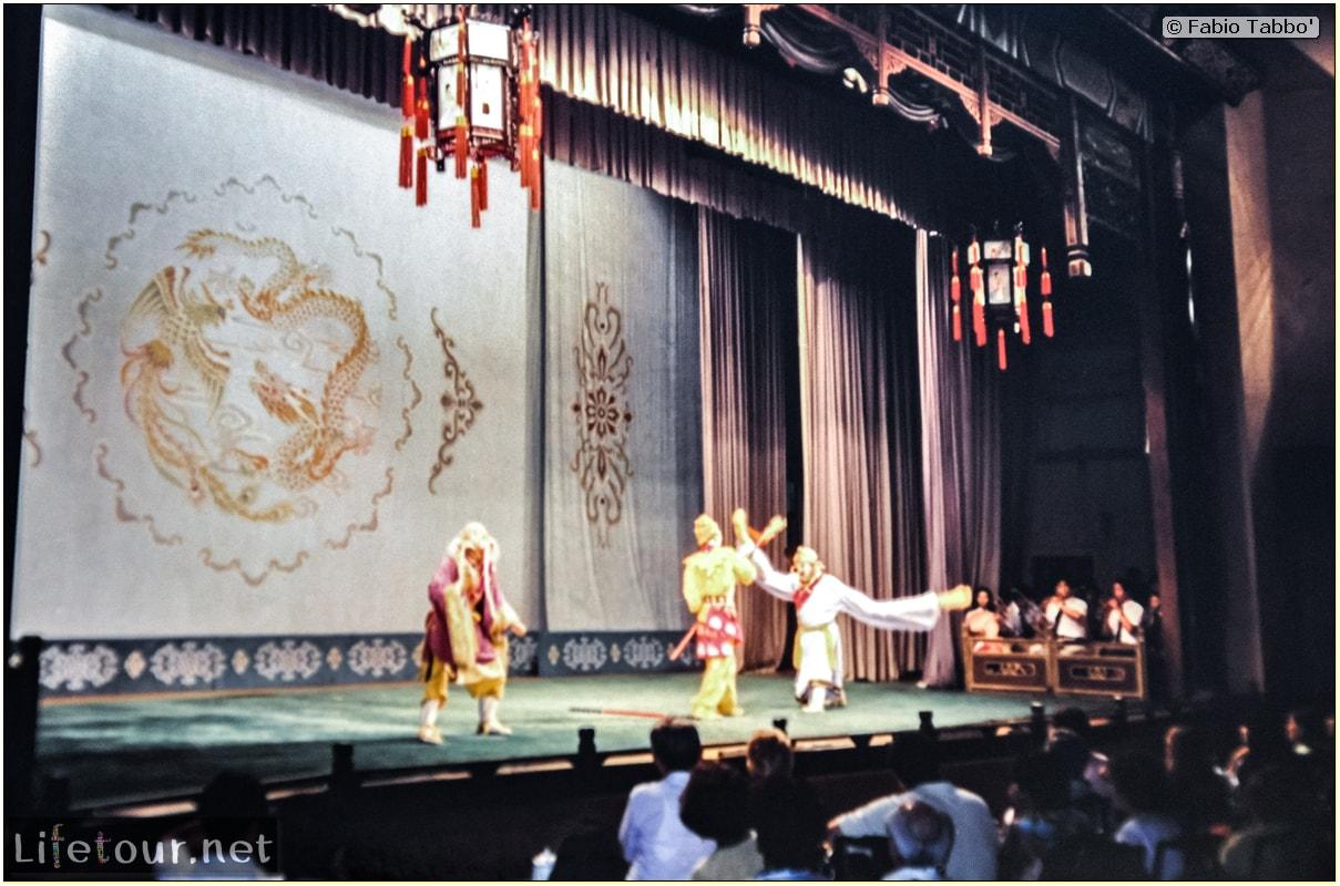 Fabio's LifeTour - China (1993-1997 and 2014) - Beijing (1993-1997 and 2014) - Tourism - Chinese Opera (1993) - 12581