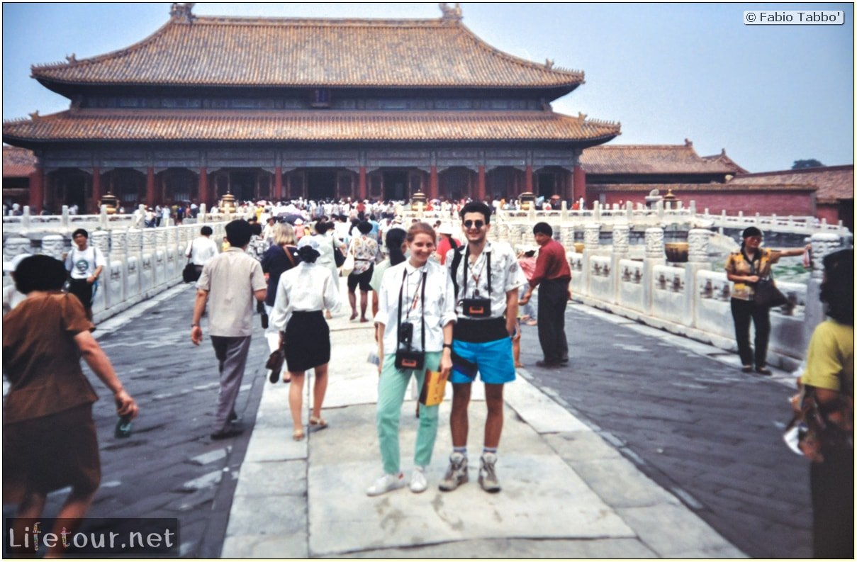 Fabio's LifeTour - China (1993-1997 and 2014) - Beijing (1993-1997 and 2014) - Tourism - Forbidden City (1993) - 13127