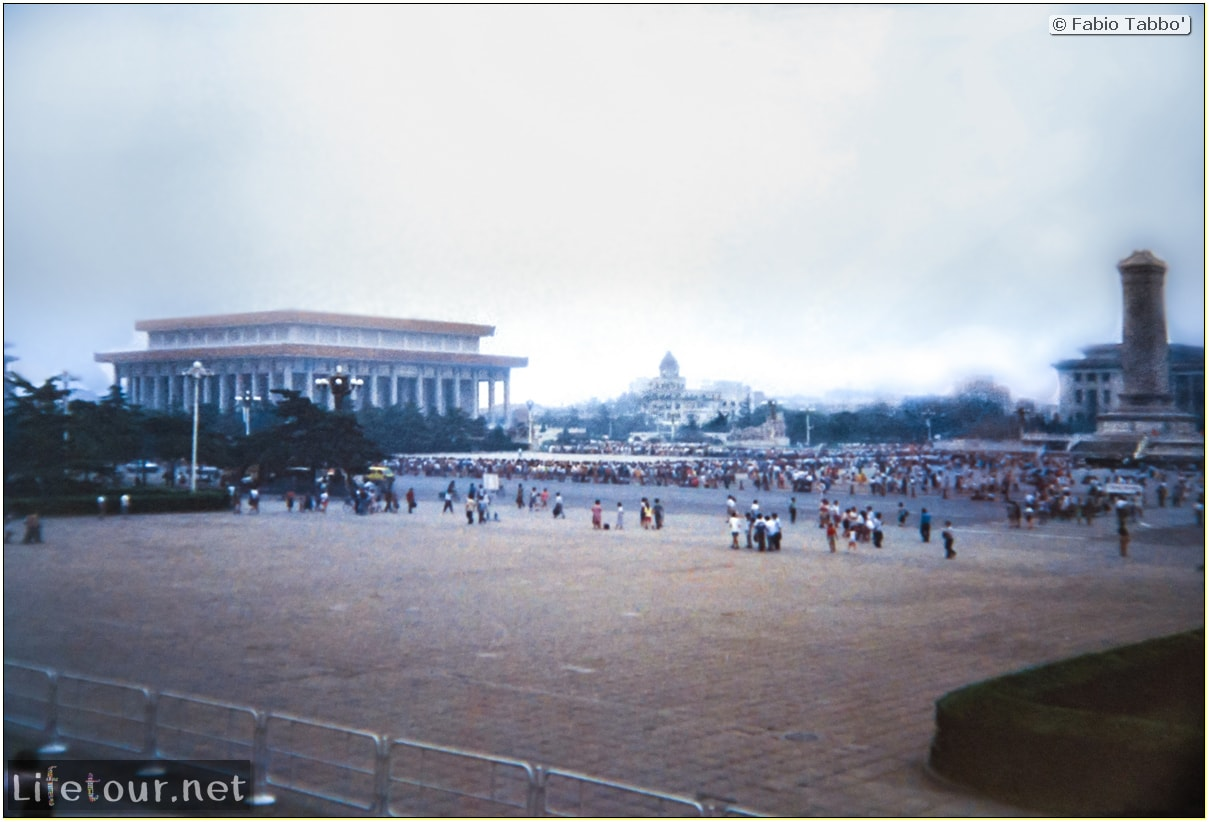 Fabio's LifeTour - China (1993-1997 and 2014) - Beijing (1993-1997 and 2014) - Tourism - Tienanmen Square (1993) - 12742