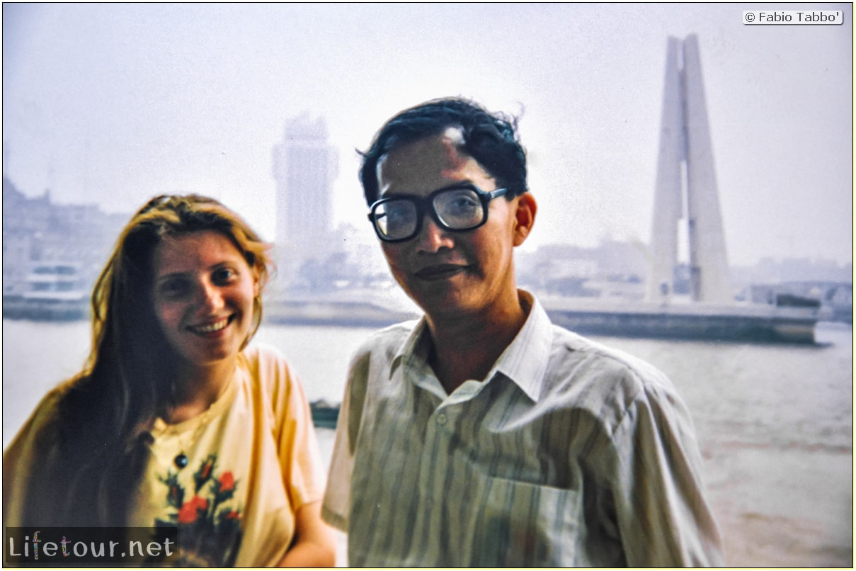 Fabio's LifeTour - China (1993-1997 and 2014) - Shanghai (1993 and 2014) - Tourism - Bund - Bund 1993 - 13298