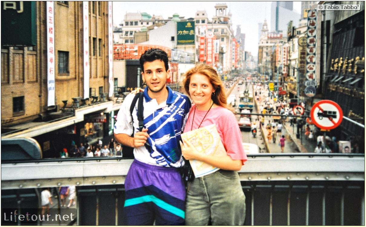 Fabio's LifeTour - China (1993-1997 and 2014) - Shanghai (1993 and 2014) - Tourism - Nanjing road - 1993 - 12683