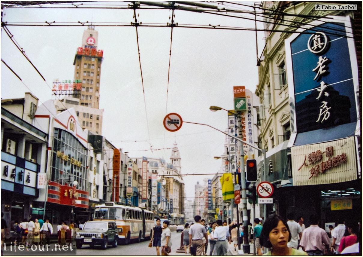 Fabio's LifeTour - China (1993-1997 and 2014) - Shanghai (1993 and 2014) - Tourism - Nanjing road - 1993 - 19883