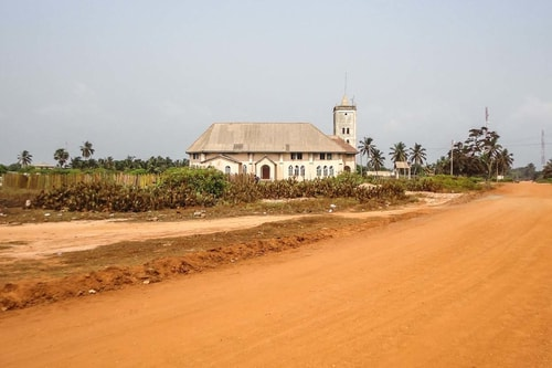 Ghana -Greater Accra-Ada Foah-Old Presbyterian Church and Beach Cemeterary-790 COVER
